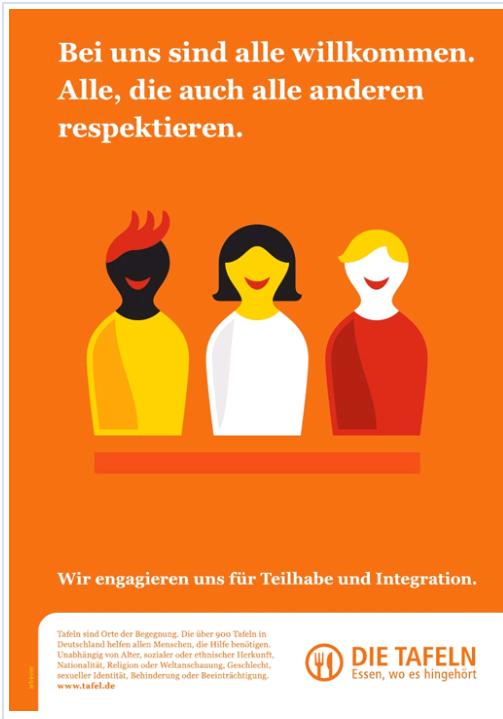 Tafel Deutschland - Engagement für Teilhabe und Integration.
