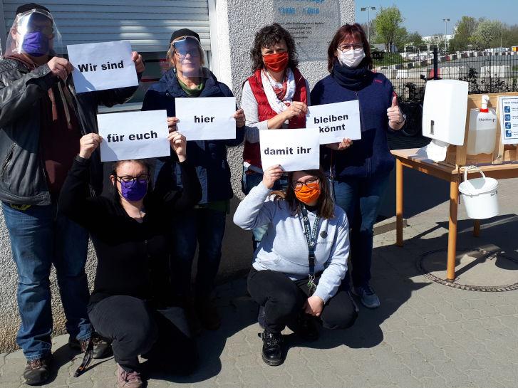 Corona-Pandemie - wir sind für euch hier damit ihr bleiben könnt. Foto: Archiv